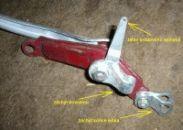 Detail na způsob uchycení lanka