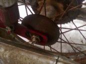 Rozpěrka kola velké půlbubnové kývačky