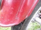 Detail přerušení lemu zadního blatníku