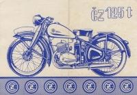 Reklamní leták ČZ 125T 1947