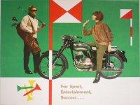 Reklamní leták ČZ 175/470 Sport Anglicky 1962