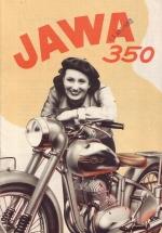 Reklamní leták Jawa 350/18 1950