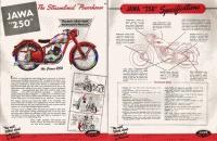 Americký prospekt ČS motocyklů 1947