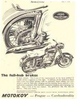 Celobubnové brzdy - Motor Cycling květen 1956