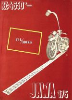 Reklamní leták Jawa Villiers 175 1932